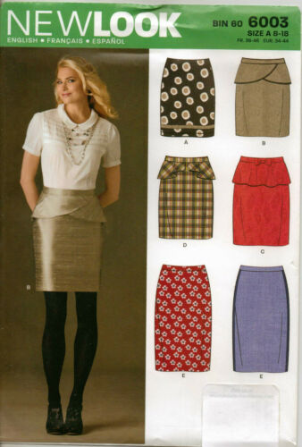 From UK Sewing Pattern  Skirts 8-18 #6003