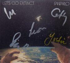 FANFARLO * LET'S GO EXTINCT * SIGNED UK 10 TRK CD + BONUS 4 TRK EP * BN&M!