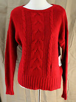St. John's Bay, Medium, Rumba Red Sweater, With Tags