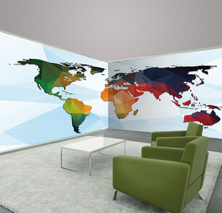3D New World Map 754 Wall Paper Murals Wall Print Wall Wallpaper Mural AU Kyra