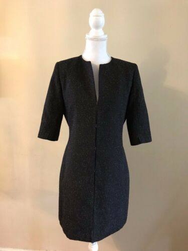 10 Tweed ~ Lightweight Il Long Us Blazer Coat Small Jacket 42 uk Tahari 6 ZvWfnTT