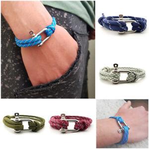 Bracciale-uomo-acciaio-con-moschettone-in-corda-nautica-da-paracord-braccialetto