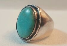 Robust Vintage Navajo Sterling Silver & Turquoise Ring Size 11.5/ 28.7grams