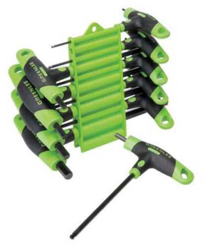 GREENLEE 0254-40 Ball End Hex Key Set,Pieces 10,S12