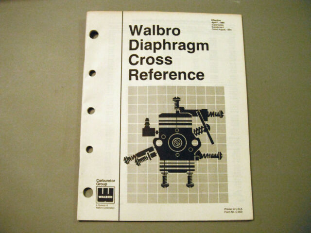 walbro carburetor diaphragm cross reference manual ebay rh ebay com Ruixing Carburetor Cross Reference Zama Carburetor Cross Reference