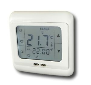 digital thermostat touchscreen raumthermostat 24v. Black Bedroom Furniture Sets. Home Design Ideas