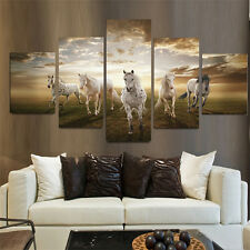 Running Horse Large Decor Art Painting Animal Modern Picture Oil Canvas Wall