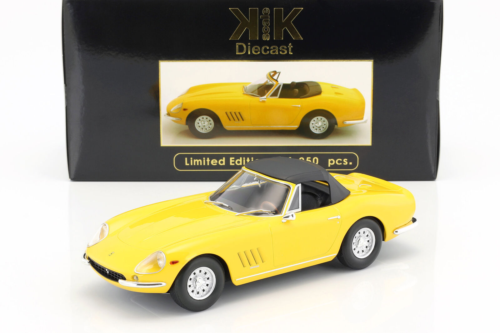 Ferrari 275 gts 4 Nuts Spyder avec jantes Alu année modèle 1967 jaune 1 18 KK-Scale