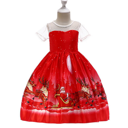 Flower Girls Princess Party Prom Dress Wedding Formal Ball Gown Bridesmaid Dress