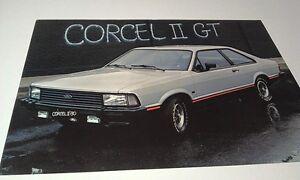 1980  FORD CORCEL II GT  of BRAZIL  Sales Leaflet  - RARE
