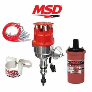 msd 9906 ignition kit ready to run distributor/wires/coil ford 351c/400/429/460 702730424605 | ebay msd 460 ford distributor to 6 msd wiring