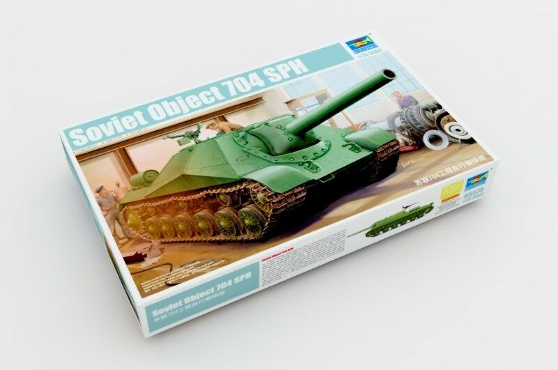 Trumpeter Soviet Project 704  Self-propelled Howitzer Tank 05575 1 35 Scale Model  les promotions