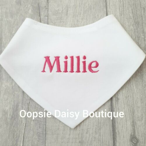 100/% Cotton Personalised Bandana Bibs ⭐ Any 3 for £10 ⭐Embroidered Design