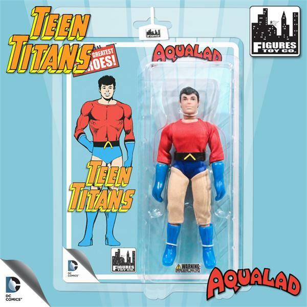 THE TEEN TITANS retro Series 1 AQUA LAD 8 INCH ACTION FIGURE NEW