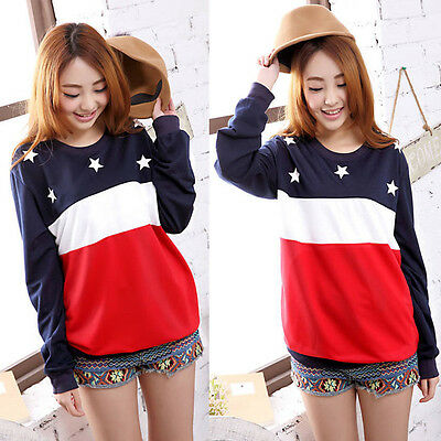 Star Sweatshirt Long Sleeve Thicken Loose Blouse Warm Womens Tops Excellent
