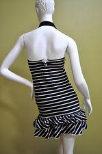 Ralph Lauren Girls Summer Halter Striped Black White Drees Size XL 16
