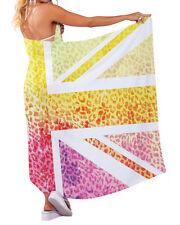 estampado leopardo Union Jack Diseño Chifón Pareo Traje De Baño Playa