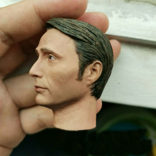 Delicate Painting 1//6 Scale Hannibal lecter Mads Mikkelsen Head Sculpt Fit 12/""