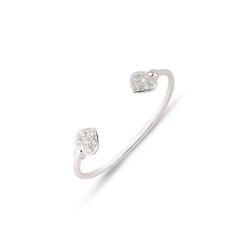 925 Sterling Silver Children/'s Baby Cubic Zirconia Heart Christening Bangle