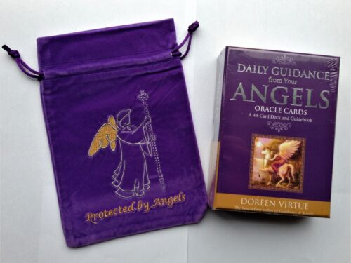 Daily Guidance From Your Angels Oracle Cards Protected By Angels Card Bag