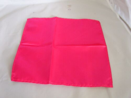 """/<NEW/> Shiny Hot Pink Mens Classic Polyester Tie and Hankie Set 3.3/"""" = 8cm Width"""