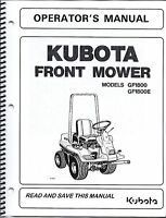 Kubota Gf1800(e) Mower + Deck Operator Manuals (set Of 2)
