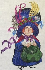 Discworld Greebo as man and cat counted cross stitch kit//chart 14s aida
