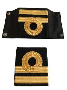 Pair-Of-Royal-Navy-Lieutenant-Rank-Slides-shirt-jumper-Epaulette
