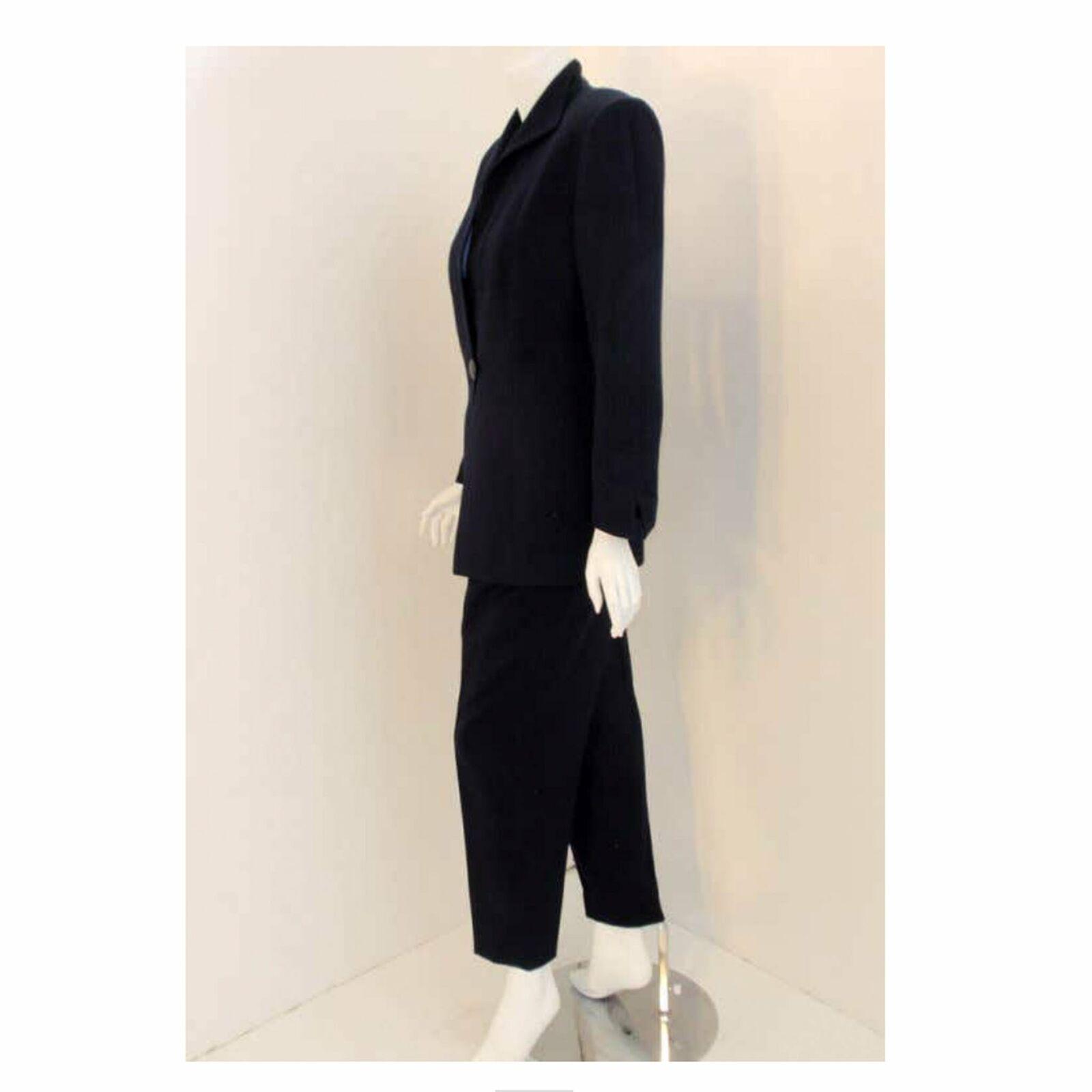 CHRISTIAN DIOR 1980s 2 pc Dark Blue Pant Suit - image 6