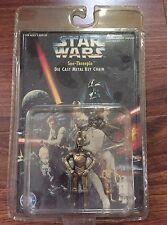 1996 STAR WARS See-Threepio Die Cast Metal Key Chain! Vintage C-3PO