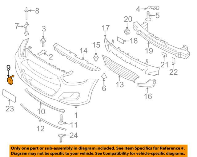 HYUNDAI OEM 12-14 Accent Rear Bumper-Cover
