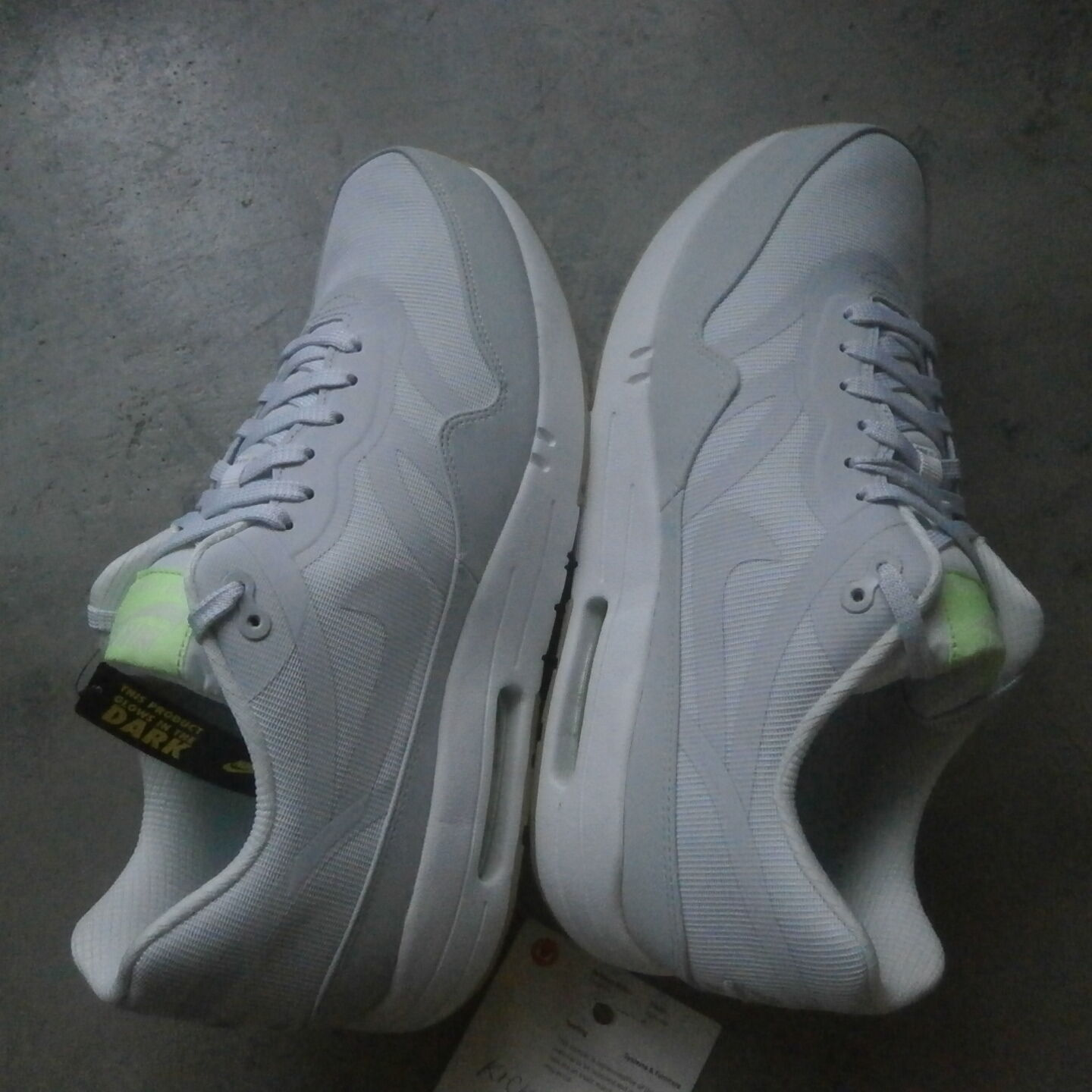 Nike AIR MAX 1 one Tape  GITD  sz 10 GLOW white 599514 103 atmos patta hoh 90 DS