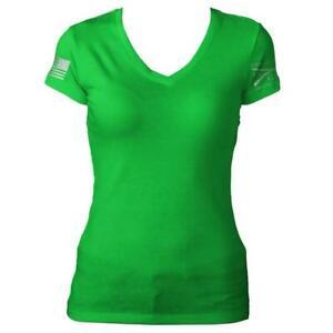 8f9a8ff1 Kelly Green V-Neck T-Shirt- Grunt Style Women's Tee Shirt | eBay
