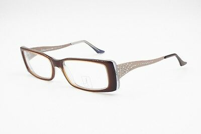 Lante Della Rovere Squared Reading Glasses Frame Strass Rhinestones Adorned New