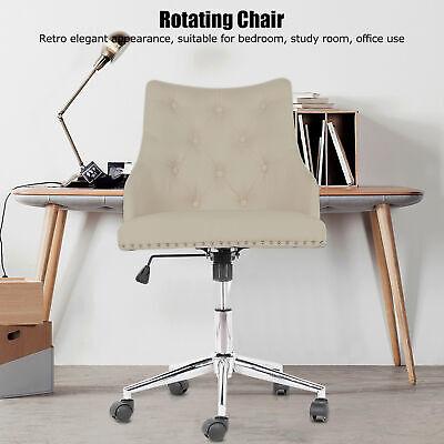 Beige Linen Modern Vanity Armless Chair Computer Office ...