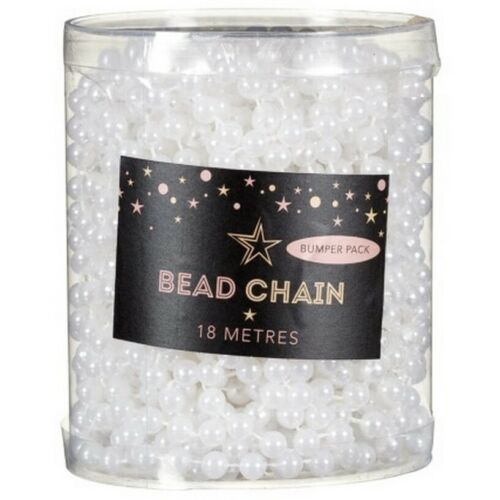 NEW 18M GARLAND BEAD CHAIN CHRISTMAS TREE BAUBLES BEADS DECORATIONS ORNAMENTS B