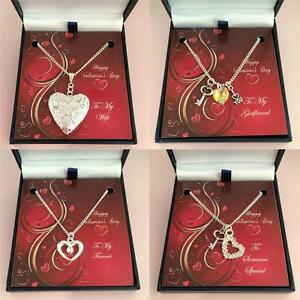 Valentines Day Gift Necklace For Wife Fiancée Girlfriend Someone