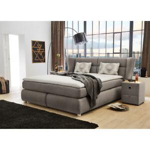 Boxspringbett Florentine Bett Polsterbett für Schlafzimmer grau ...
