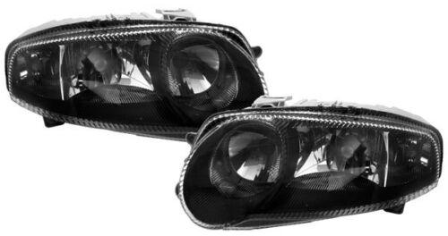 2 FEUX AVANT BLACK GLACE LISSE ALFA ROMEO 147 3.2 GTA 11//2000-01//2005