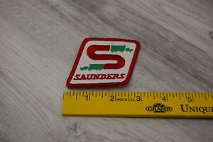 Saunders Red and Green Patch Trucking / Leasing Collectible Pre-Owned