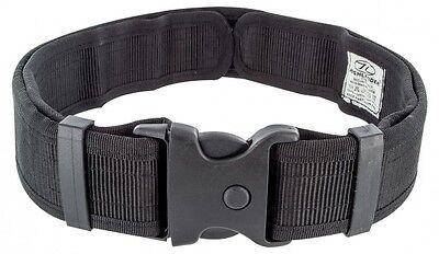 Highlander Security Belt Black - Quick Release Buckle Police Security Forces
