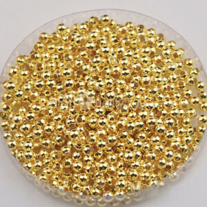 1000-x-Gold-Silver-Plated-Round-Ball-Spacer-Bead-3mm-Jewelry-Finding-Charm-Hot