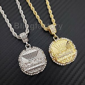 6f619110dfb6b Hip Hop Iced Lab Diamond Last Supper Pendant & 4mm 24