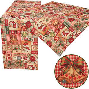 Motifs de noel patchwork chemin de table nappe napperon rouge ebay - Chemin de table en patchwork ...