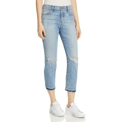 Pistola Womens Charlie Blue Light Wash High Rise Destroyed Jeans 28 BHFO 3087