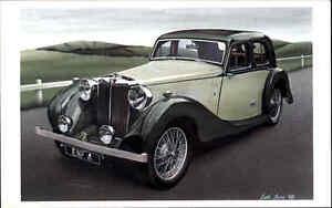 Auto-Car-Classic-Cars-MG-Two-Litre-SA-anno-1938-Postkarte-Postcard-Carte-Postale