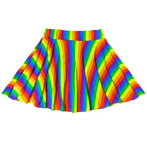 Kids Girls Rainbow Skater Skirt  Multi Color Ballet Dance Summer Wear Tutu Skirt