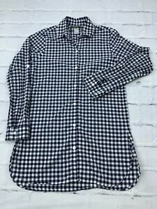 Tommy Bahama Womens Size S/P Long Sleeves Checkered Button Down Dress Shirt Blue