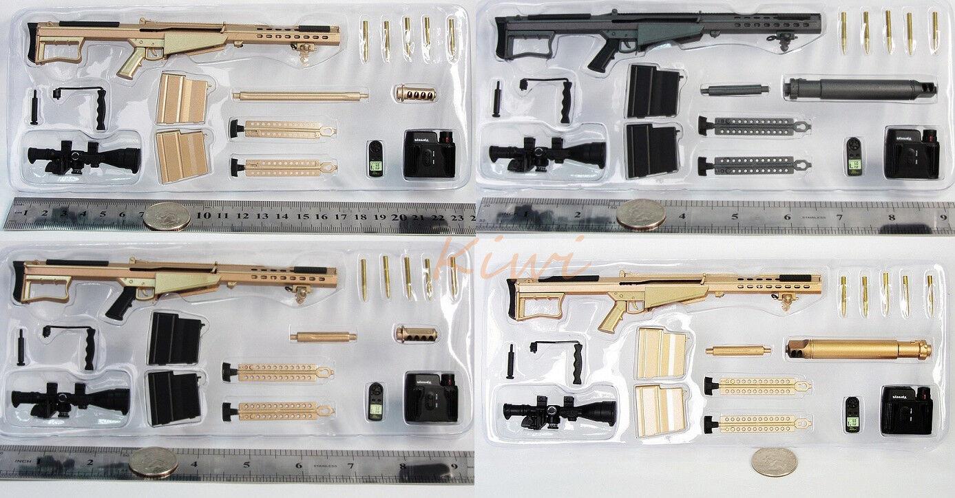 G_8028_ABCD M107A1 Figure Special Operation M107-A1 Sniper Rifle Model SET  4 1 6  jusqu'à 50% de réduction