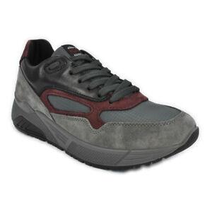 Scarpe-IGI-amp-CO-Sneaker-pelle-Nabuk-grigio-rosso-memory-foam-suola-zeppa-6142522